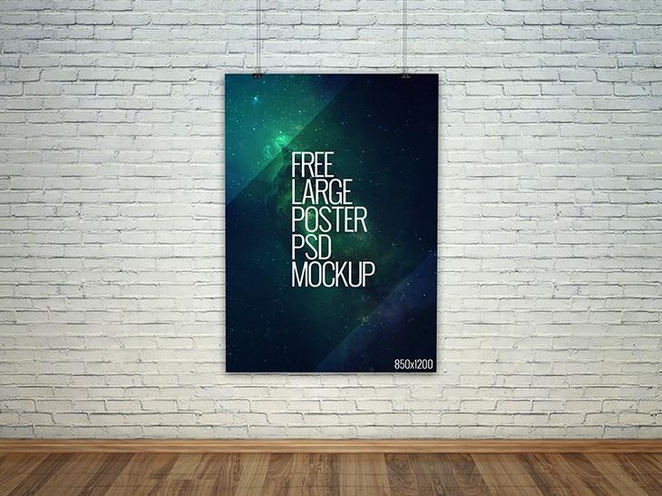 large poster psd mockup download for