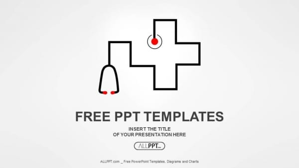Free Medical Stethoscope Symbol Powerpoint Template