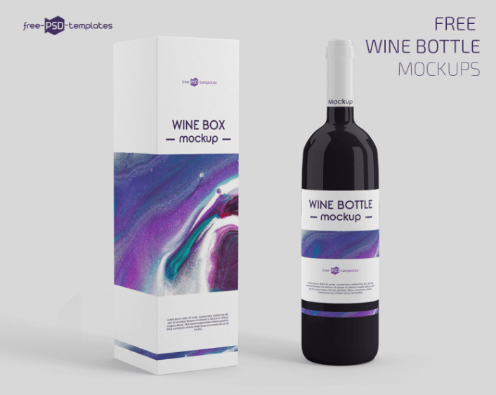 Download Wine Bottle Box Packaging PSD Mockup Download Free ...