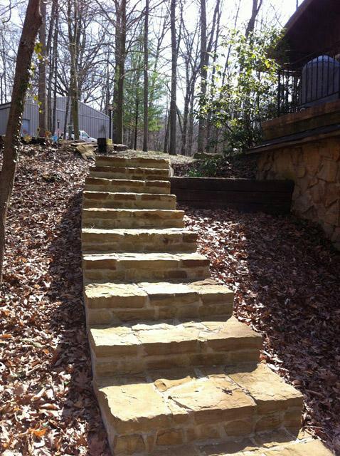 installing sandstone steps designcape