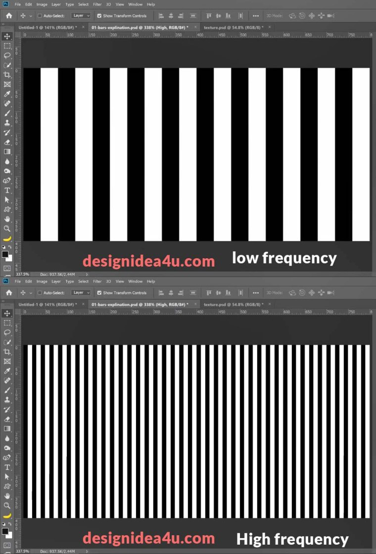 low frequency layer and high frequency