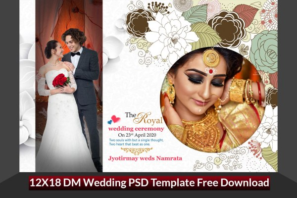12X18 DM Wedding PSD Template Free Download Vol-1