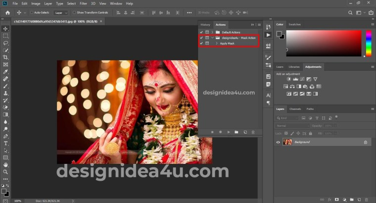 Mask Action For Wedding Album Design Free Download
