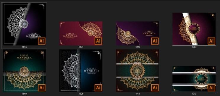 Creative Luxury Mandala Background For Adobe Illustrator