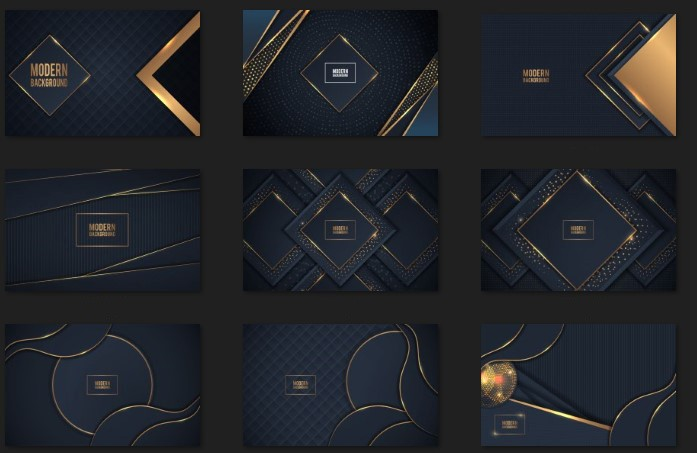 Dark Gold Background With Overlap Layer for Adobe Illustrator