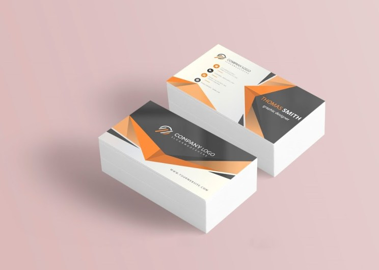 8 Clean Business Card Templates PSD Free Download - Business Card PSD Mockup