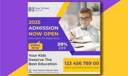 Customizable School Admission Design Template