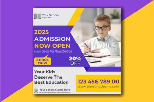 Customizable School Admission Design Template