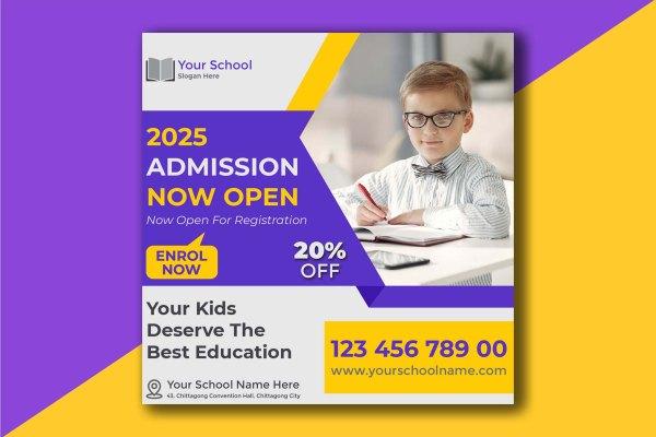 Customizable School Admission Design Template | Design Idea 4u