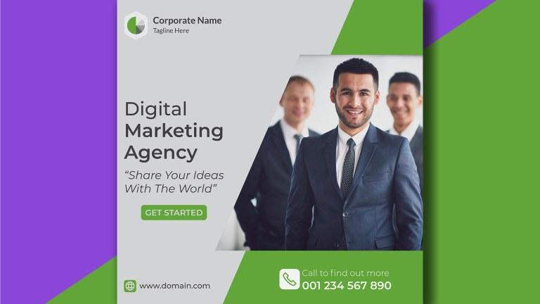 Multipurpose Business Social Media Post Free PSD Template