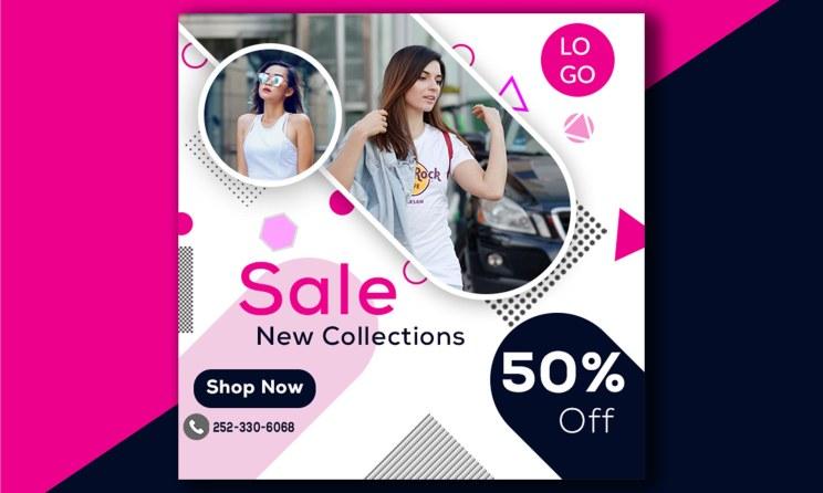 Offer Sale Web Social Media Advertisement Banner Template
