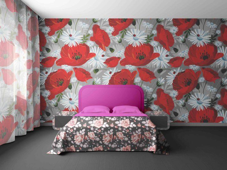 Bedroom Interior Mockup PSD Template Free Download
