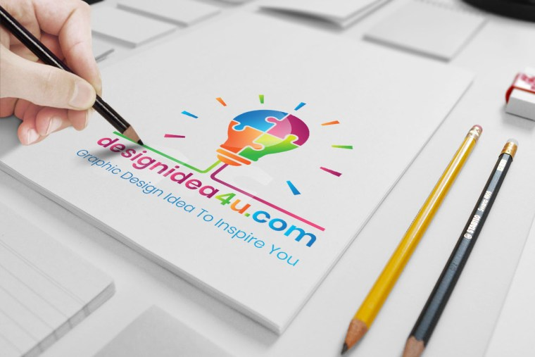Hand Drawn Logo Mockup, Sketch Logo Mockup, Free Download