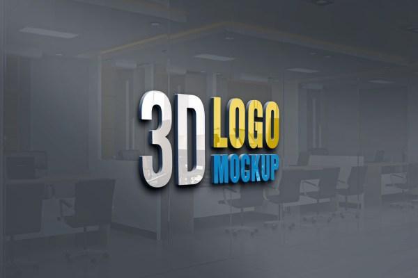 New 3D Logo Mockup PSD Free Download | Logo Mockup