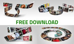 3D Photo Strip Photorealistic PSD Template Free Download - Pack 2