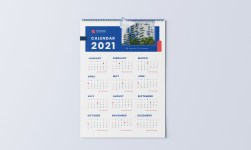 Wall Calendar 2021 - Minimalist Real Estate Calendar 2021