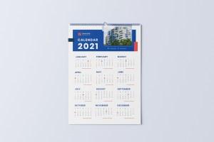 Wall Calendar 2021 - Minimalist Real Estate Calendar 2021
