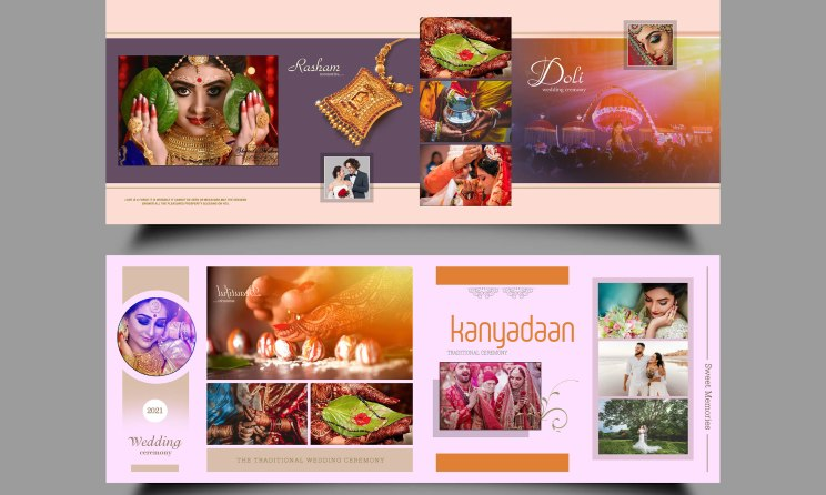 Wedding Album Design DM PSD Template