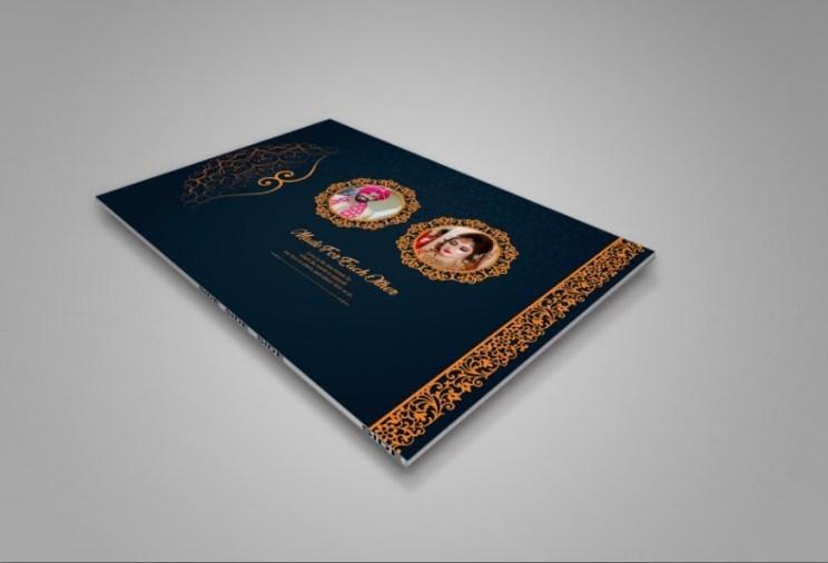 Luxury Wedding Album Cover PSD 2021