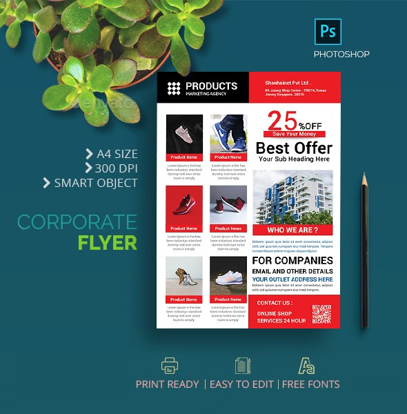Sale Promotion Flyer Template Free - Product Sales Flyer