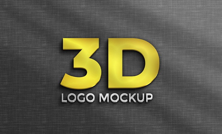 3D Logo Mockup PSD