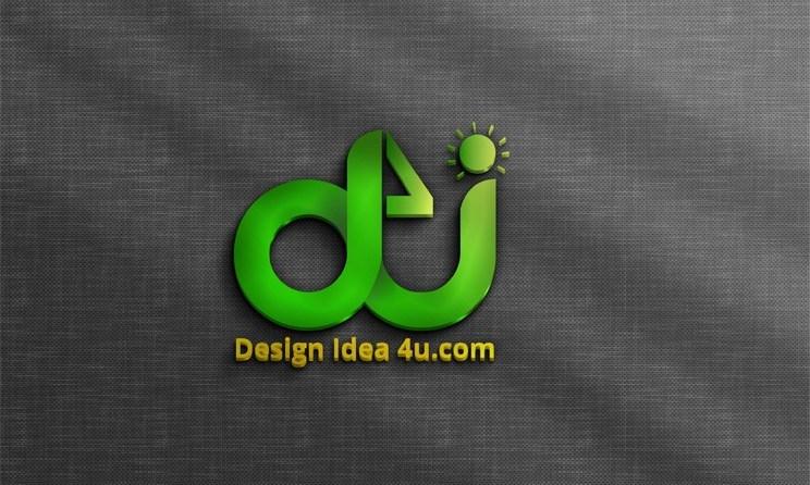 3D Logo Mockup PSD File Free Download