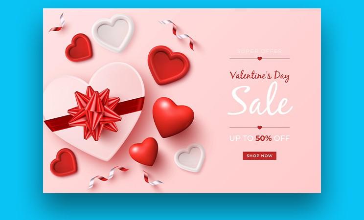 Best 5 Valentines Day Modern Sale Banner