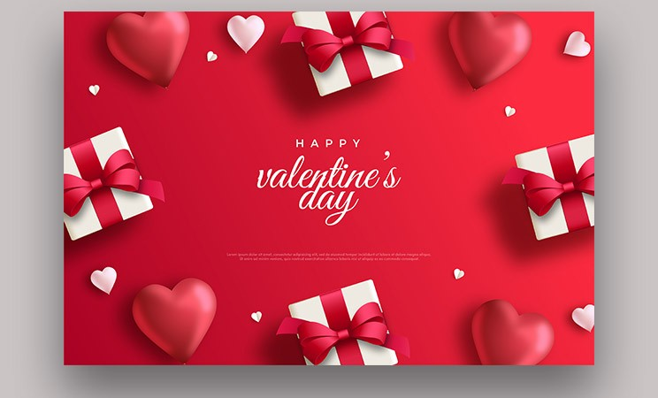 Top 5 Valentine Day Sale Banner with Hearts Modern DesignTop 5 Valentine Day Sale Banner with Hearts Modern Design