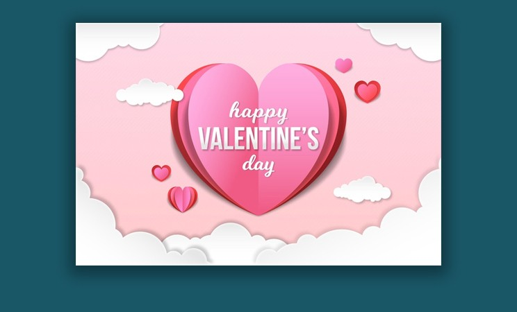 Valentine's Day Background in Paper Style Free Vector Free Download