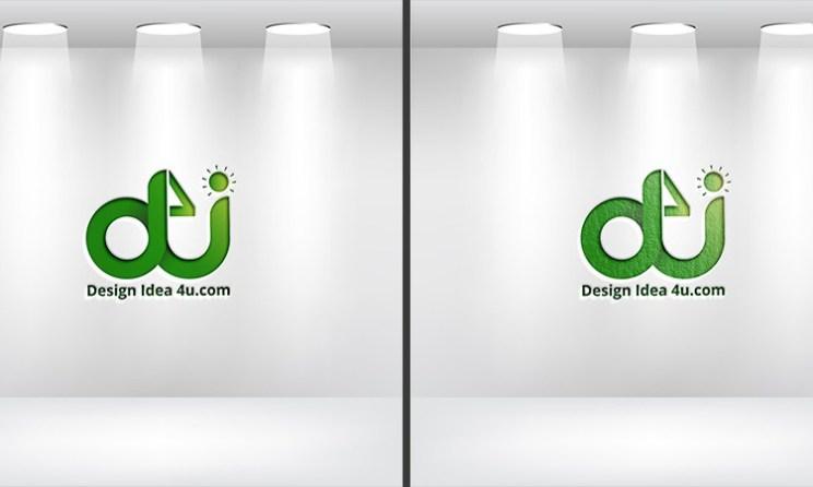 Studio Spotlight Logo Mockup PSD Free Download