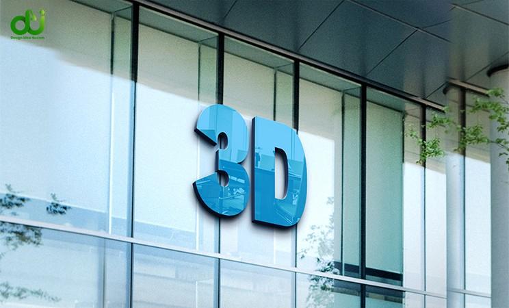 3d logo mock up