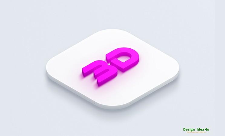double 3d logo mockup free