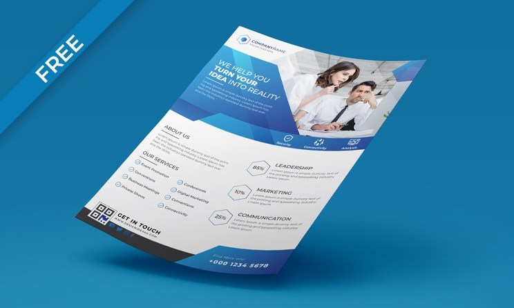 New Best A4 Flyer Mockup PSD Free Download