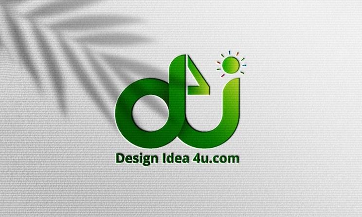 Simple realistic paper pressed logo psd mockup   Paper logo mockup
