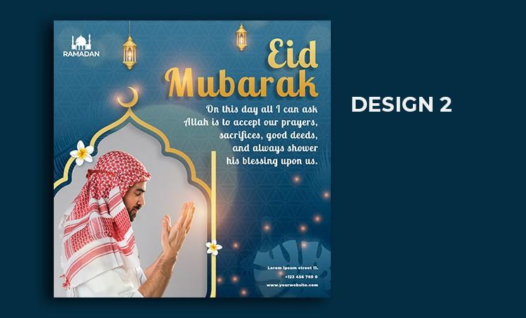 eid mubarak social media post