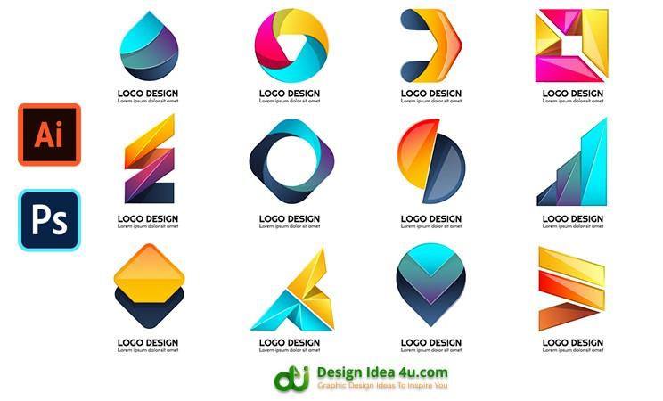 Modern shape for logo design