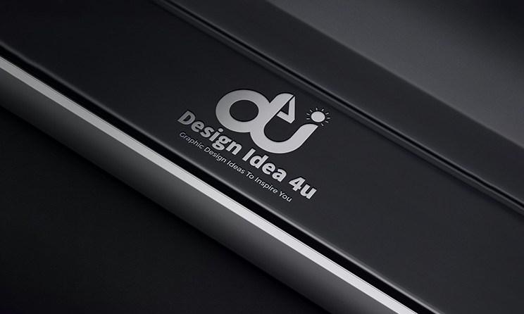 New 3d Silver Logo Mockup Free PSD