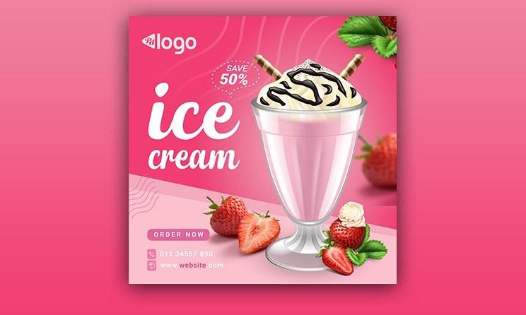 Ice cream Menu Social Media