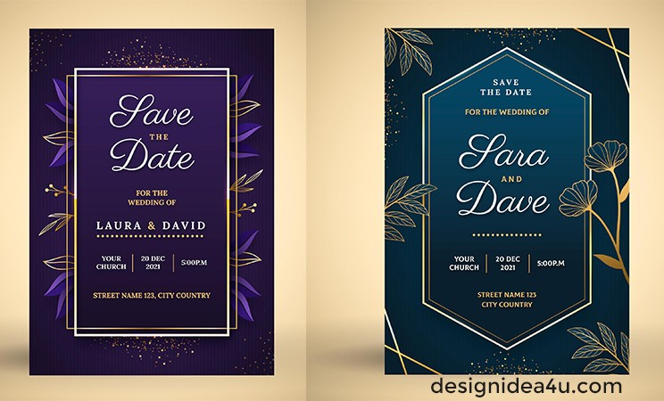 invitation wedding vector