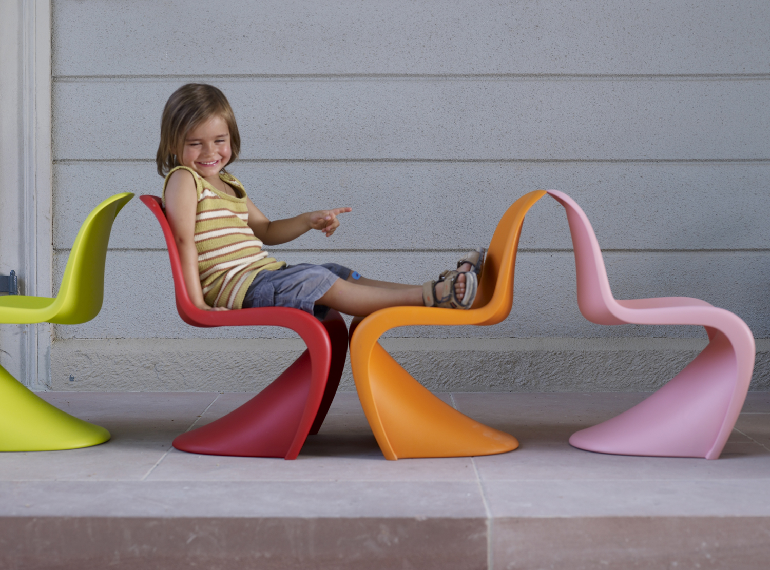 Vitra Kinderstuhl Panton Chair Junior Designikonen