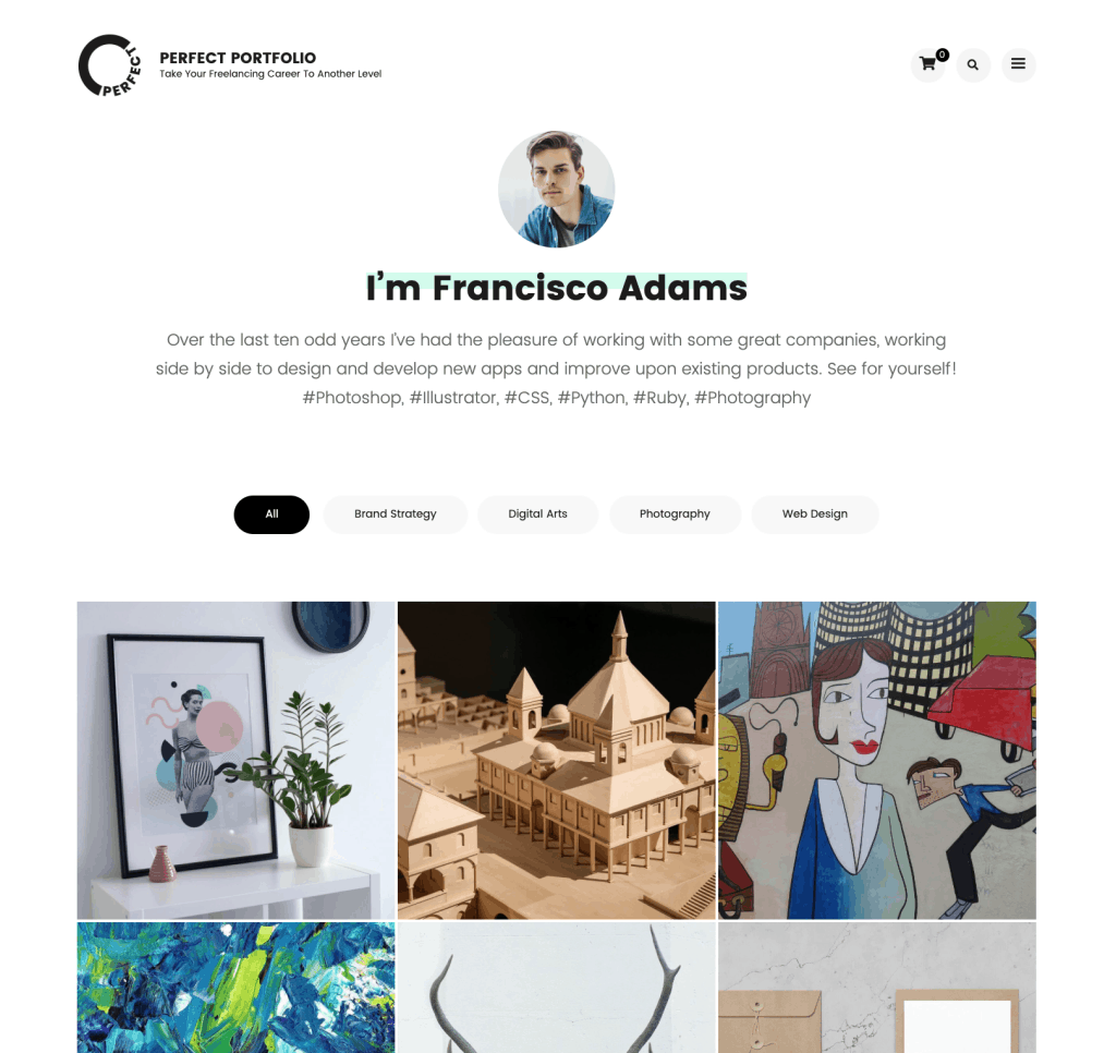 Perfect portfolio - free wordpress theme