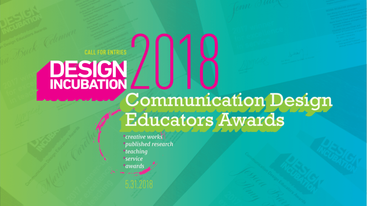 María Rogal Will Chair the 2018 Communication Design Educators Awards