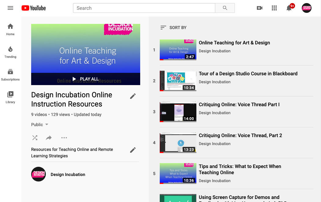 Ideas for Interactive Online Design Instruction