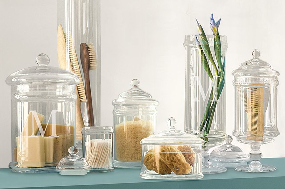 Tuesdays Tips Apothecary Jars as Chic Storage 4 Kitch Bath  Laundry Rooms  Design Indulgences