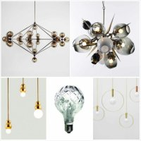 Shadeless lamps and pretty exposed bulb lighting  Design