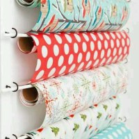 Tuesday's Tips: gift wrap storage ideas