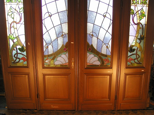 Art Nouveau Doors Stained Glass Patterns