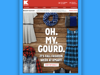Kmart Seasonal Emails