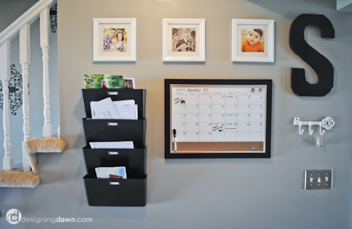 Around the House: Hallway Organization Station