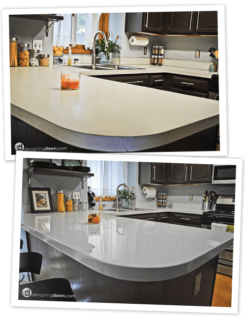 DIY Painted Laminate Countertops - Designing Dawn